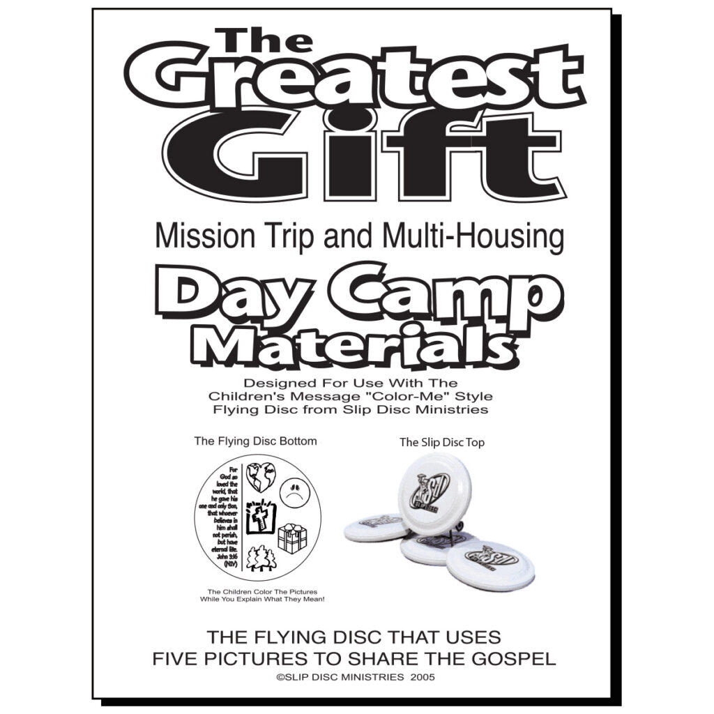 day camp curriculum slip disc gospel flying tracts