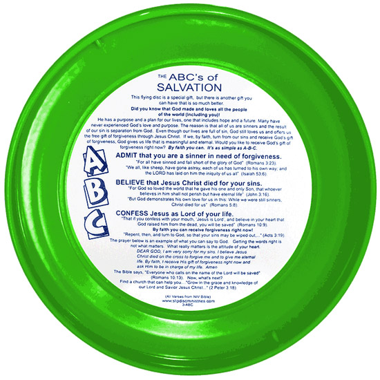 ABCs of Salvation Slip Disc (Back)